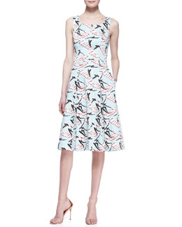 Carolina Herrera Swimming Ladies A-Line Dress