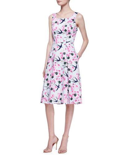 Carolina Herrera Love Letters A-Line Dress