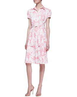 Carolina Herrera Marilyn Toile Belted Shirtdress