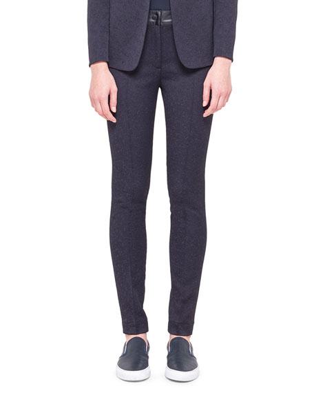 Tech Jacquard Flat-Front Trousers