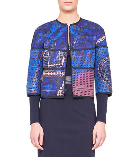 Akris punto Reversible Printed Jacket