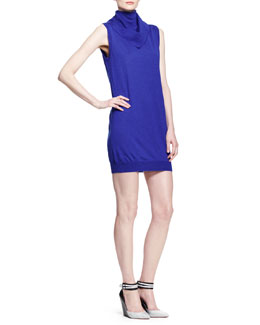 Alexander Wang Bandana-Neck Tunic Dress