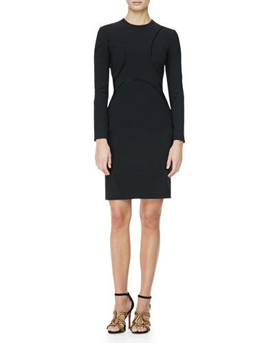 Alexander Wang Long-Sleeve Curved-Seam Dress