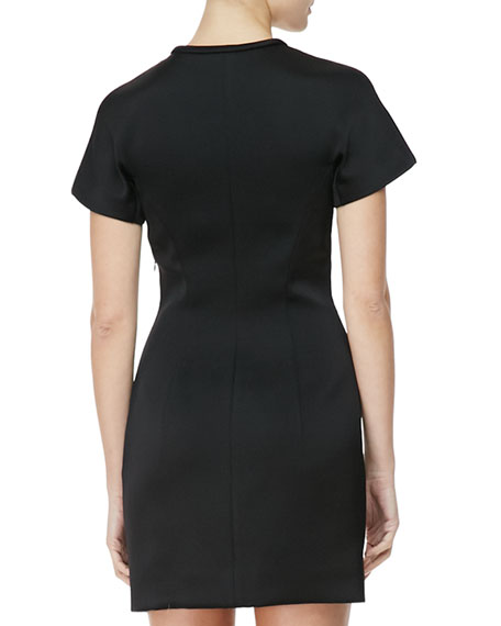 Sculpted T-Shirt Dress, Raven Black