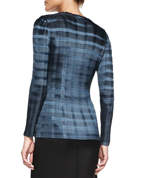 Pleated Top with Raw Edges, Anthracite