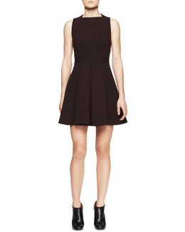 Proenza Schouler Sleeveless Wool Jersey Flare Dress