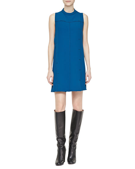 Sleeveless Stud-Trim Shift Dress