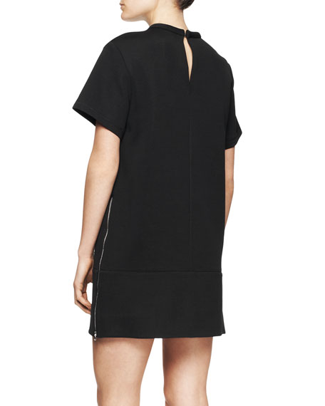 Short-Sleeve Pocket Shirtdress