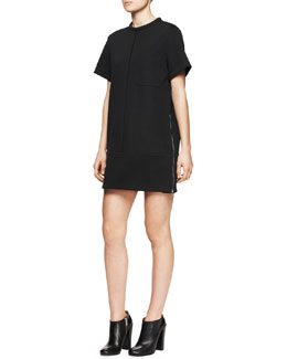 Proenza Schouler Short-Sleeve Pocket Shirtdress
