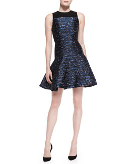 Proenza Schouler Sleeveless Jacquard Flare Dress