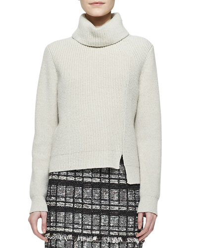 Proenza Schouler Notched-Hem Turtleneck Sweater