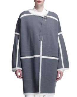 Chloe Milano Paneled Long Jacket