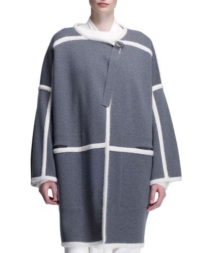 Chloe Milano Paneled Long Jacket