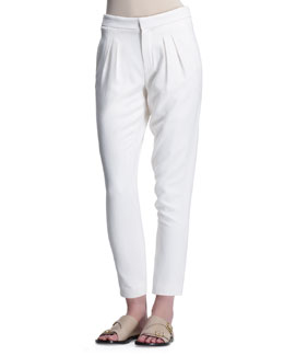 Chloe Light Cady Pants, Eggshell White
