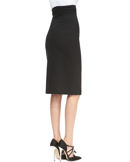 Wrapped-Waist Midi Skirt