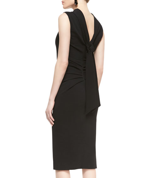 Sleeveless Drape-Back Dress