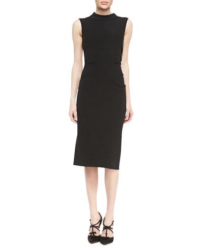 Oscar de la Renta Sleeveless Drape-Back Dress