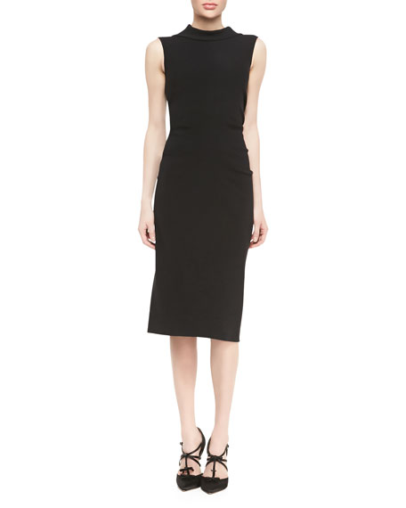 Sleeveless Drape-Back Dress