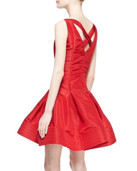 Sleeveless Flared-Skirt Dress