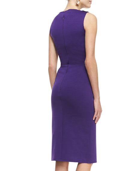 Asymmetric Peplum Sheath Dress