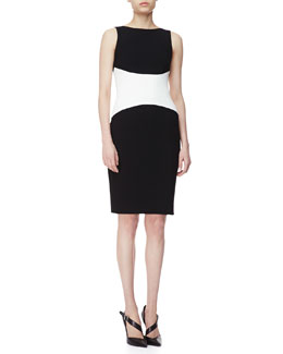 Narciso Rodriguez Sleeveless Colorblock Jersey Dress