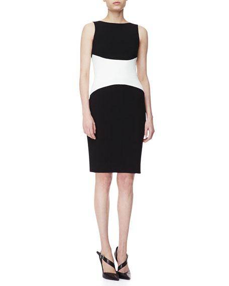 Sleeveless Colorblock Jersey Dress