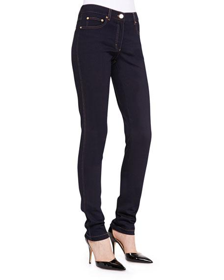 Skinny Ankle Jeans, Dark Blue