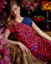 Radiant-Seam Leopard Dress, Garnet Red