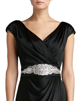 St. John Collection Duchesse Belt with Hand Beading