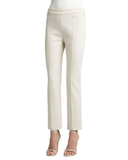 St. John Collection Stretch Knit Cropped Pants