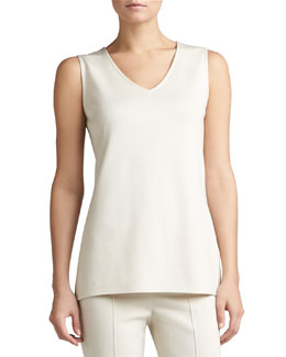 St. John Collection Knit V-Neck Tunic Shell