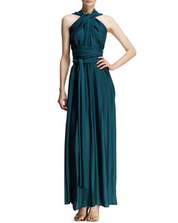 Lanvin Draped Halter Goddess Gown