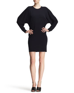 Lanvin Blouson Jersey Seam-Back Shift Dress
