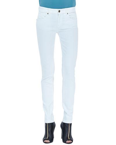 Burberry Brit Denim Skinny Jeans, White