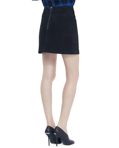 Lambskin Two-Pocket Mini Skirt