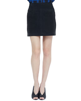 Burberry Brit Lambskin Two-Pocket Mini Skirt