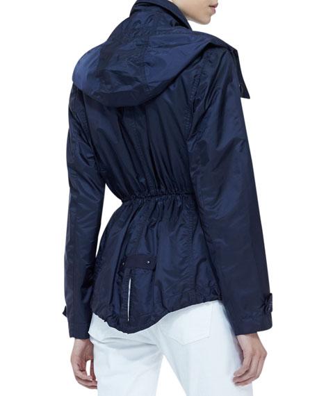 Cinched-Waist Rain Coat