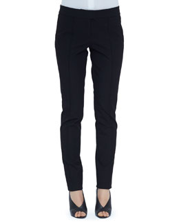 Burberry London Creased Straight-Leg Pants