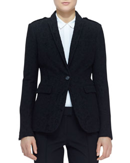Burberry London Single-Button Lace Blazer