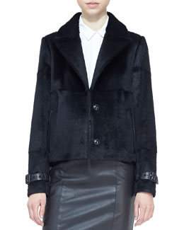 Burberry London Cropped Rabbit Fur Jacket