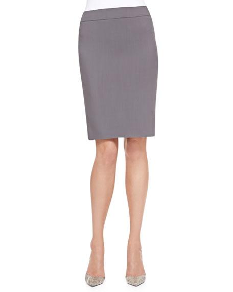 Featherweight-Wool Pencil Skirt