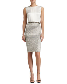 St. John Collection Knit Dress with Satin Bodice