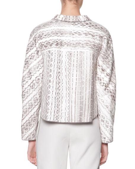 Snakeskin & Bonded Jersey Jacket