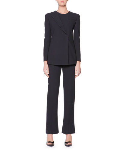 Giorgio Armani Iconic One-Lapel Jacket Pantsuit, Two-Piece Set