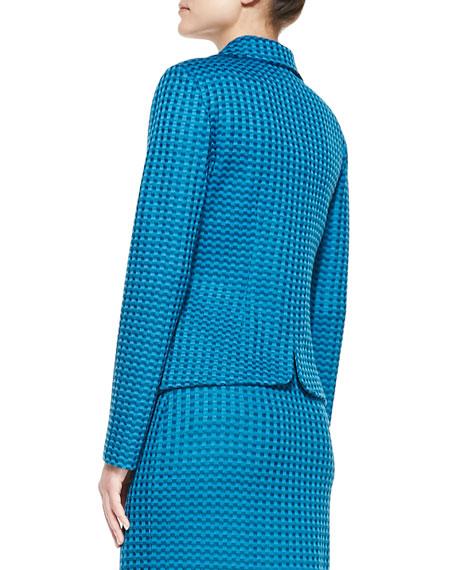 Damier Tweed Knit Blazer