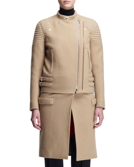 Givenchy Double-Zip Long Moto Coat