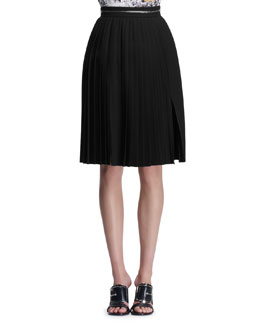 Givenchy Zipper-Waist Accordion Skirt
