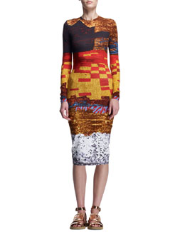 Givenchy Mosaic-Print Sheath Dress