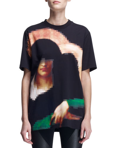 Givenchy Pixelated Madonna T-Shirt