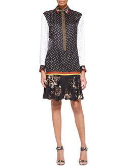Jason Wu Long-Sleeve Printed Tunic Dress